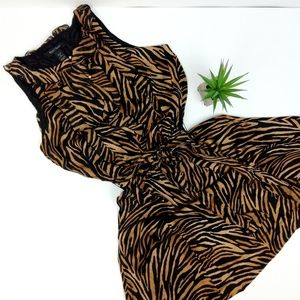White House Black Market Silk Tiger Print Dress 10